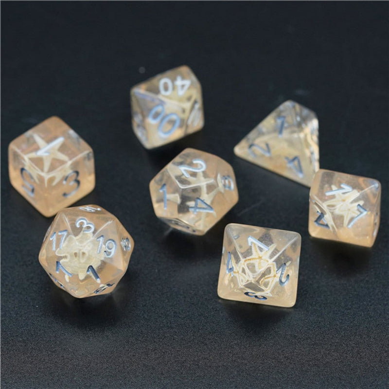 Beach Glitter with Starfish Dice Set