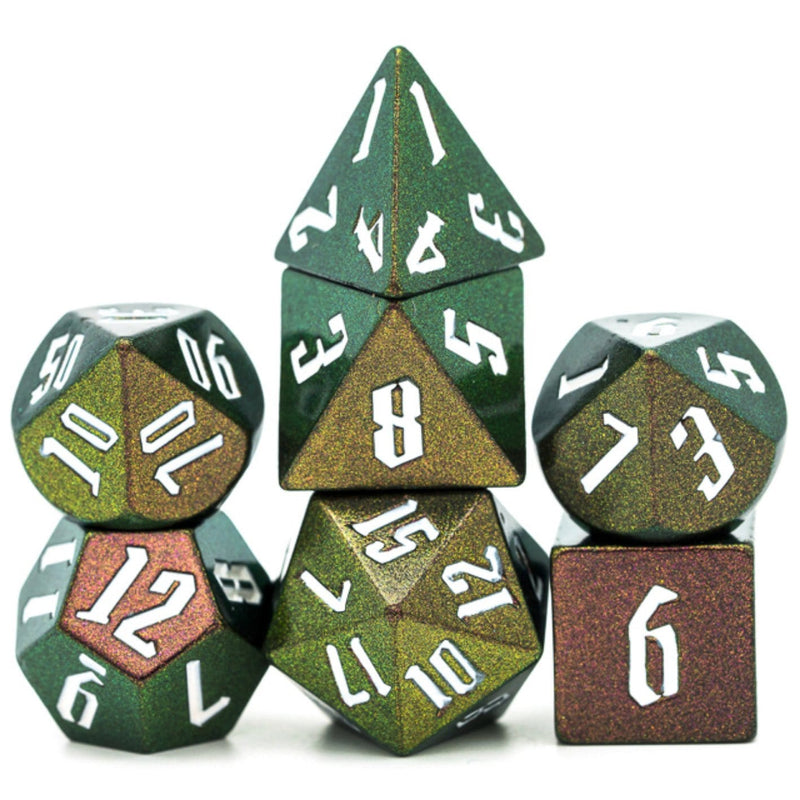 Jumbo Color Shifting Dice Set - Green, Gold, Red