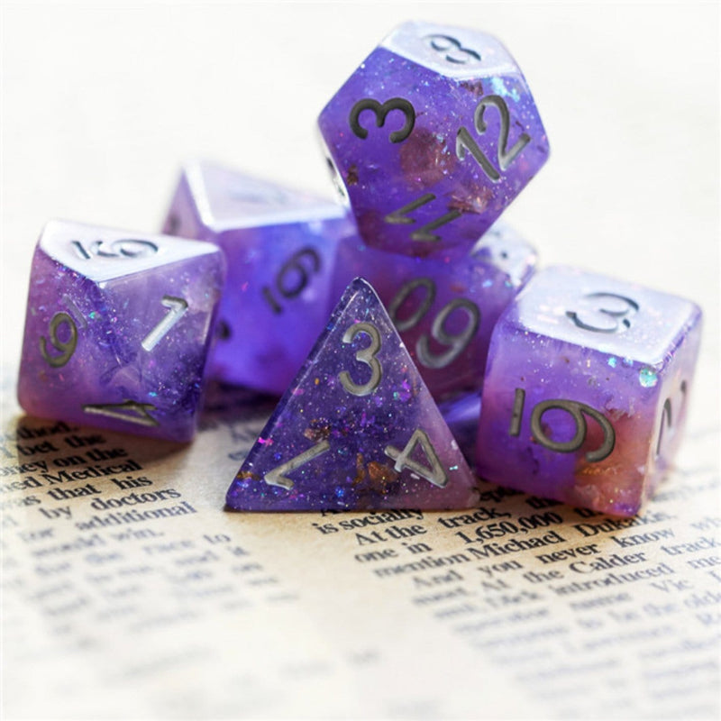 Pink & Purple Seabed Treasure Dice Set