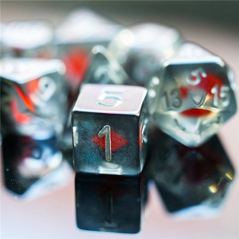 Suit of Dice: Diamonds RPG Dice Set