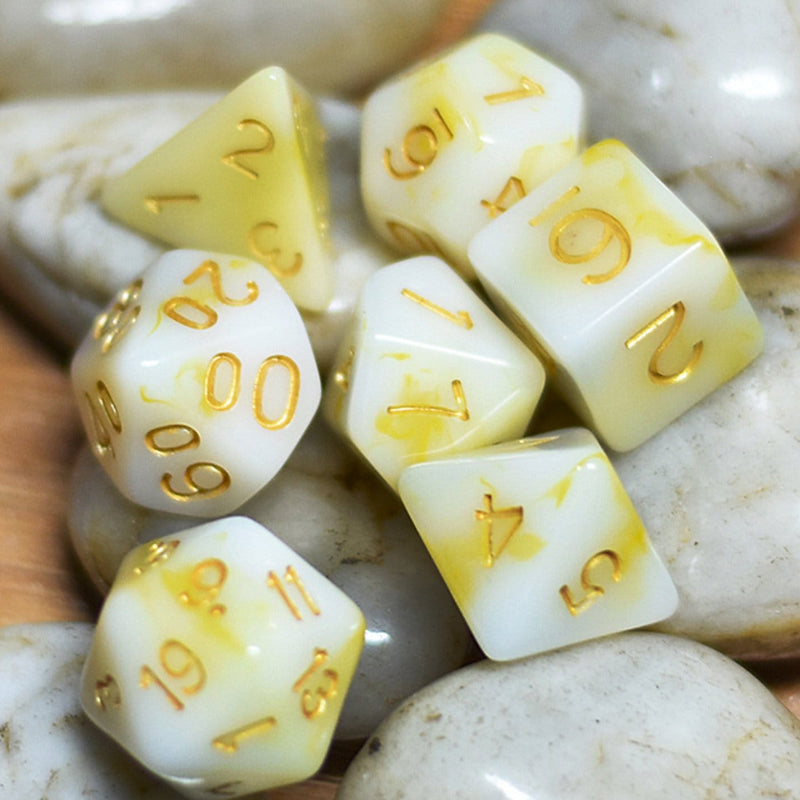 Buttered Popcorn RPG Dice Set