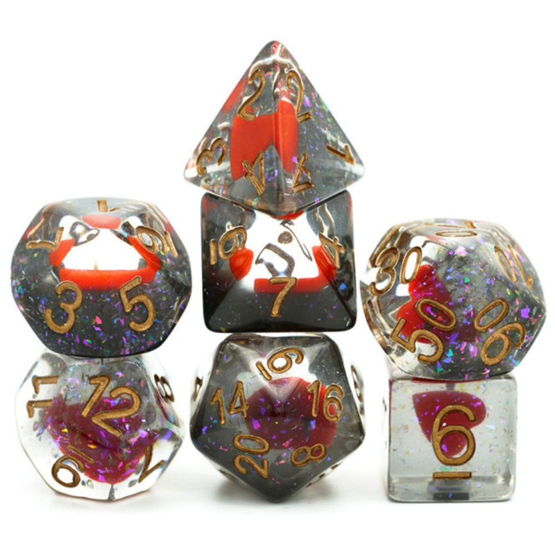 Suit of Dice: Hearts RPG Dice Set