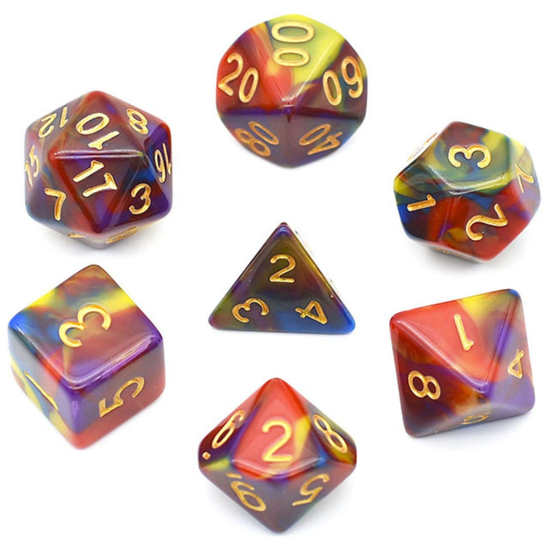 Vivid Color Blend RPG Dice Set