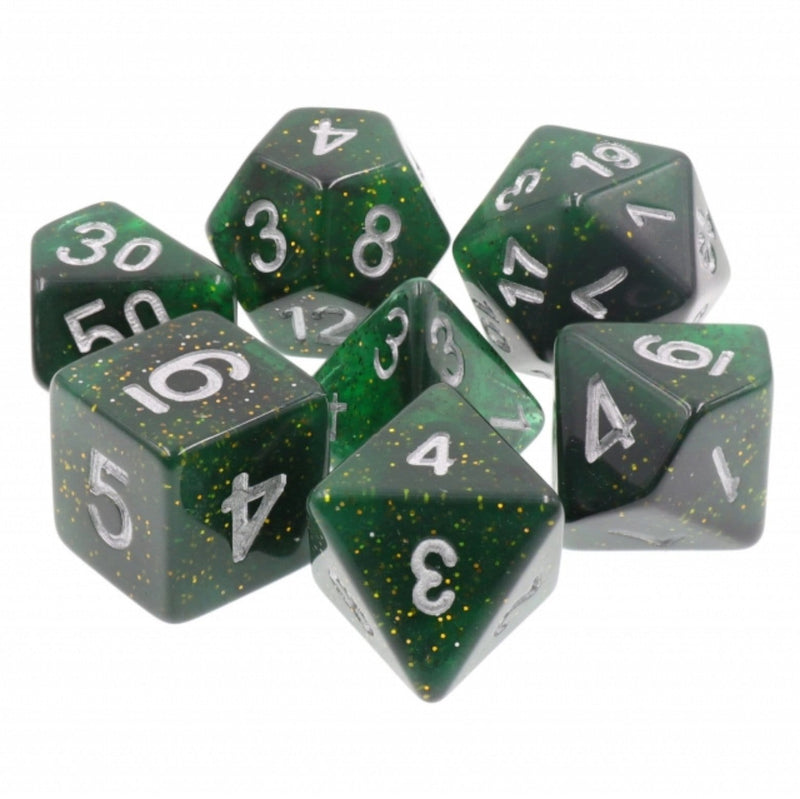 Galactic Green RPG Dice Set