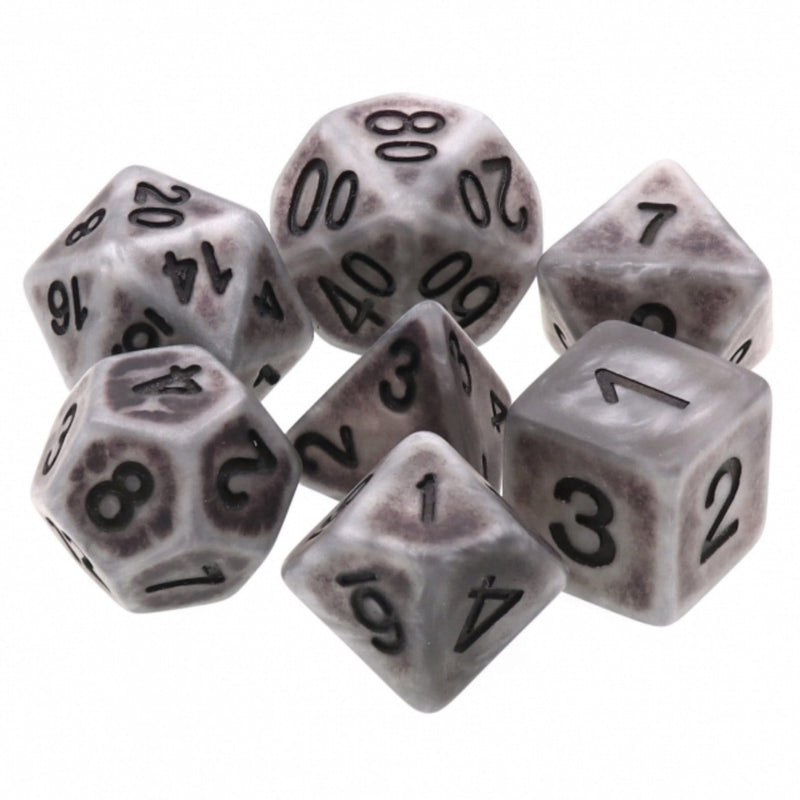 Ancient Silver RPG Dice Set