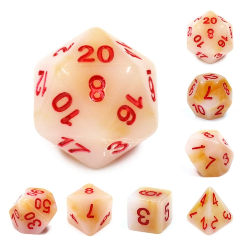 White Jade RPG Dice Set