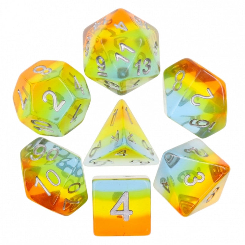 Yellow Aurora  RPG Dice Set