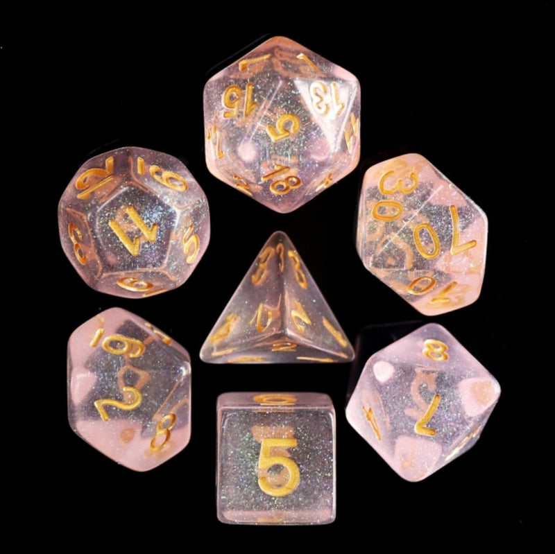 Pink Iridecent RPG Dice Set