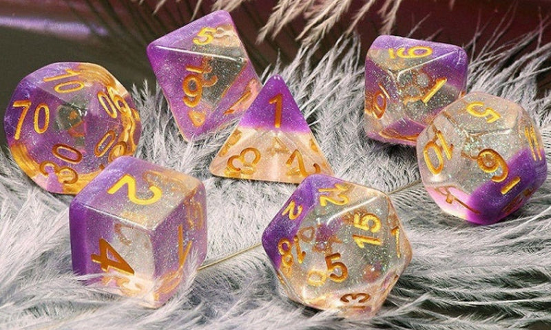 Violet Sunset RPG Dice Set