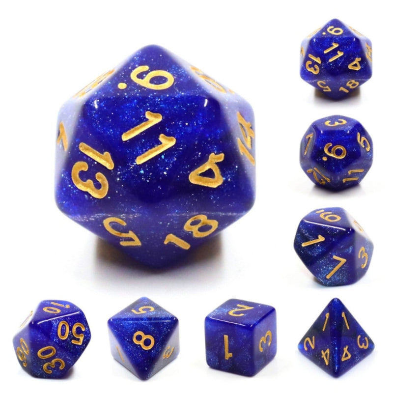 Blue Galaxy RPG Dice Set