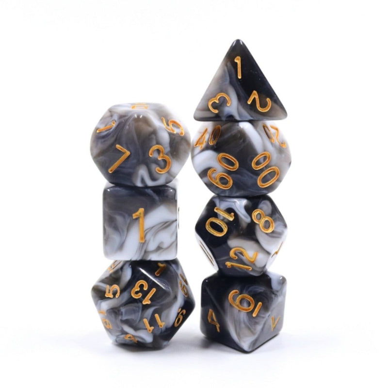 Espresso Cream RPG Dice Set