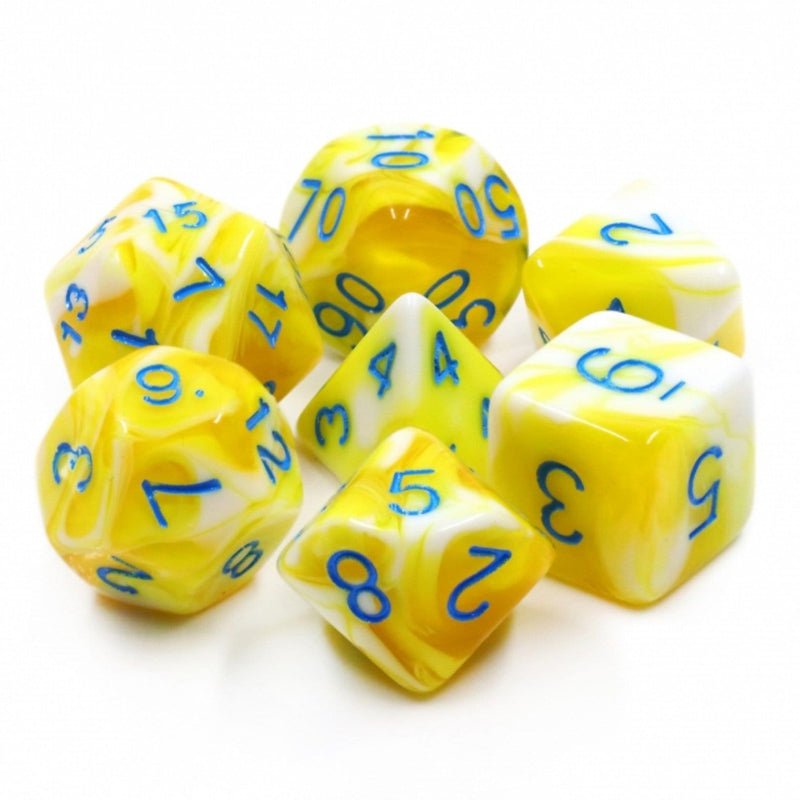 Lemon Cream RPG Dice Set