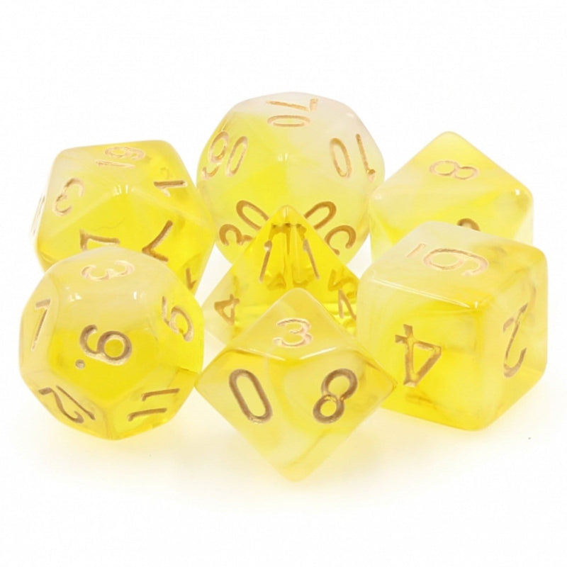 Yellow Milky RPG Dice Set