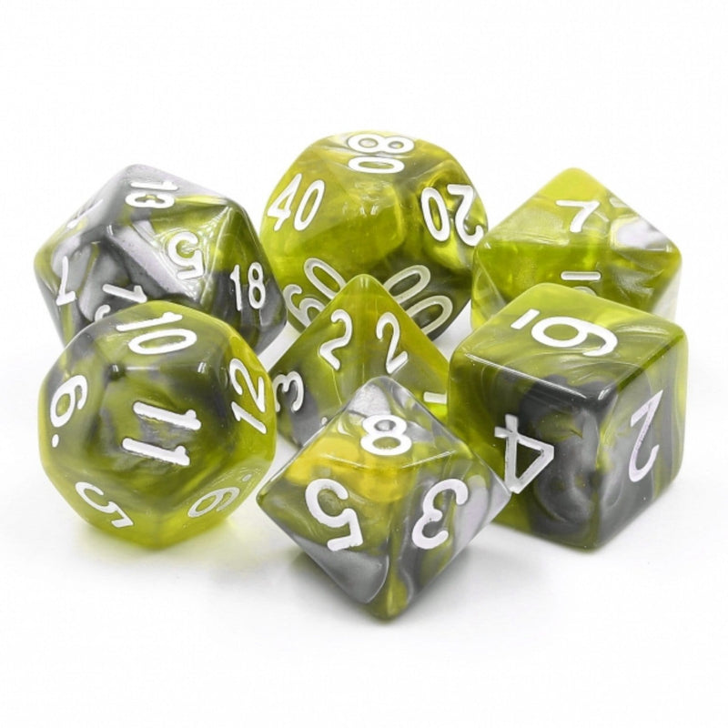 Green Flow RPG Dice Set