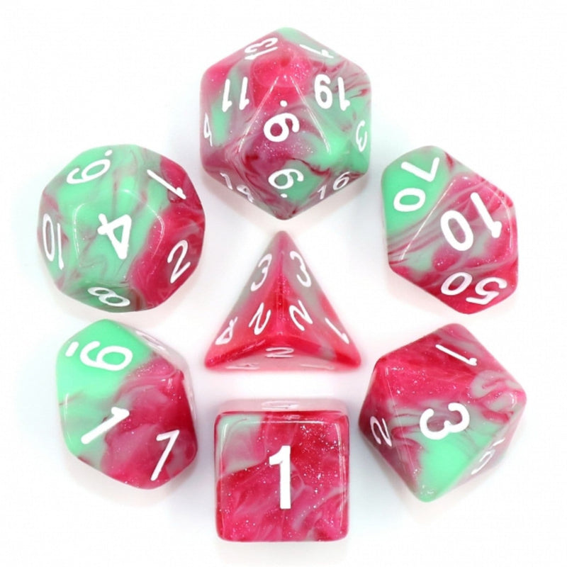 Strawberry Creme RPG Dice Set