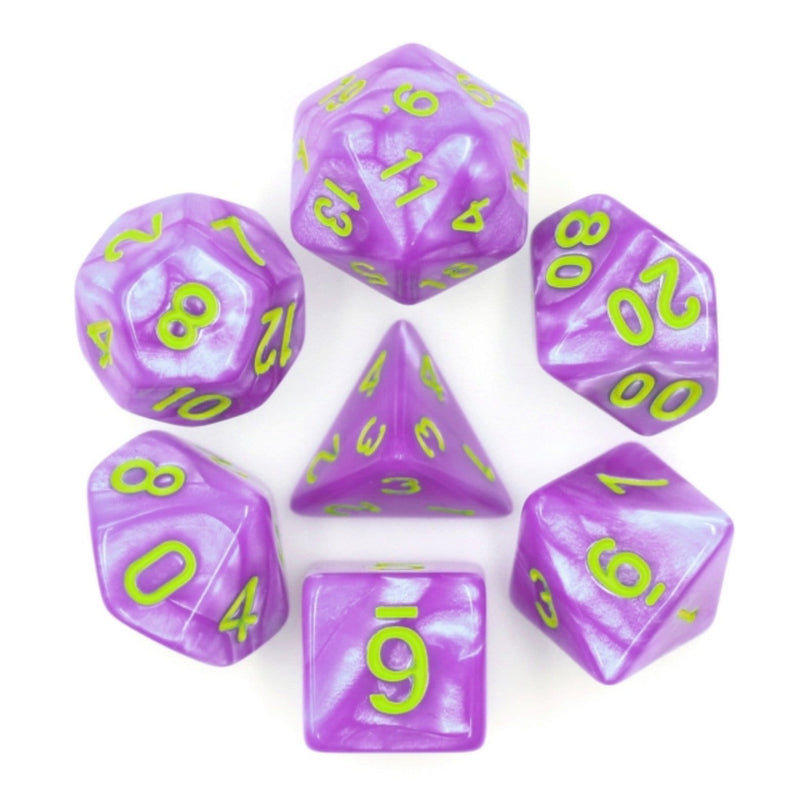 Purple People Eater RPG Dice Set