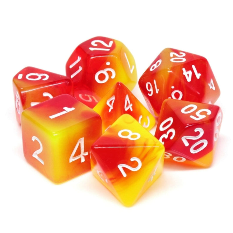 Rising Phoenix RPG Dice Set