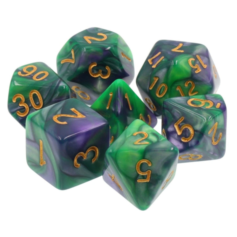 Mermaid's Tail RPG Dice Set