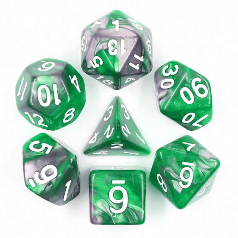 Emerald Ore RPG Dice Set