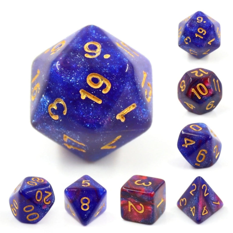Rose Galaxy RPG Dice Set