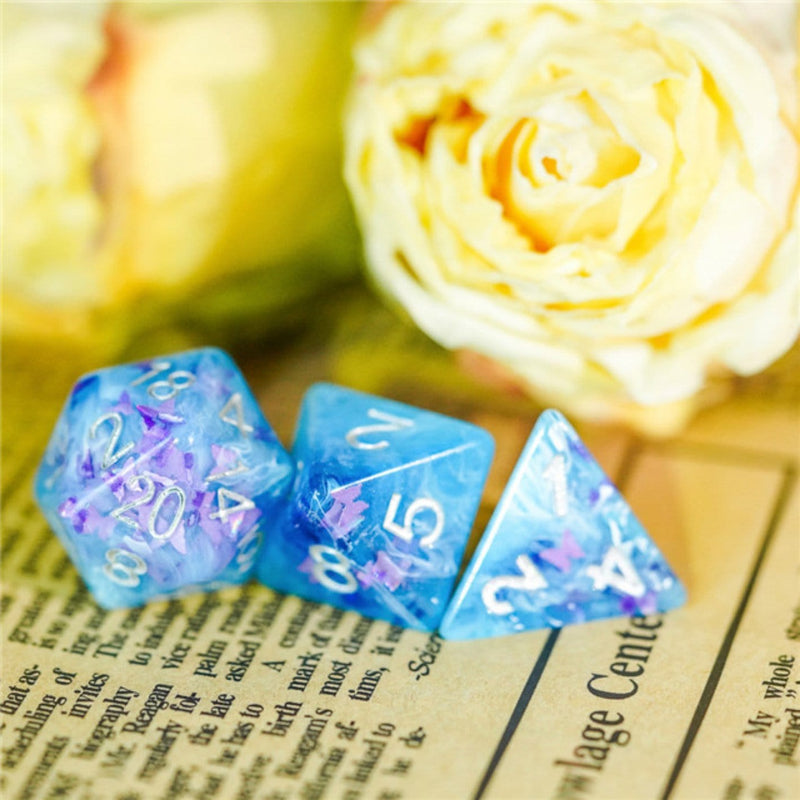 Frozen Butterfly RPG Dice Set