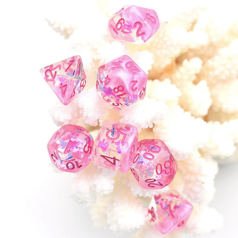 Pink Dreamlike RPG Dice Set