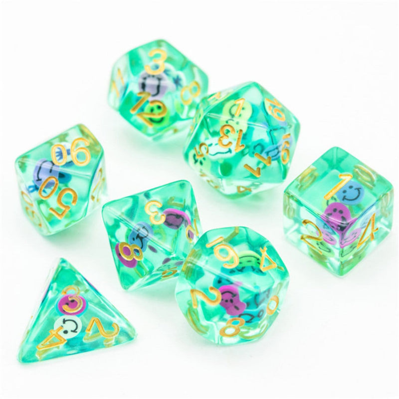 Smiley RPG Dice Set