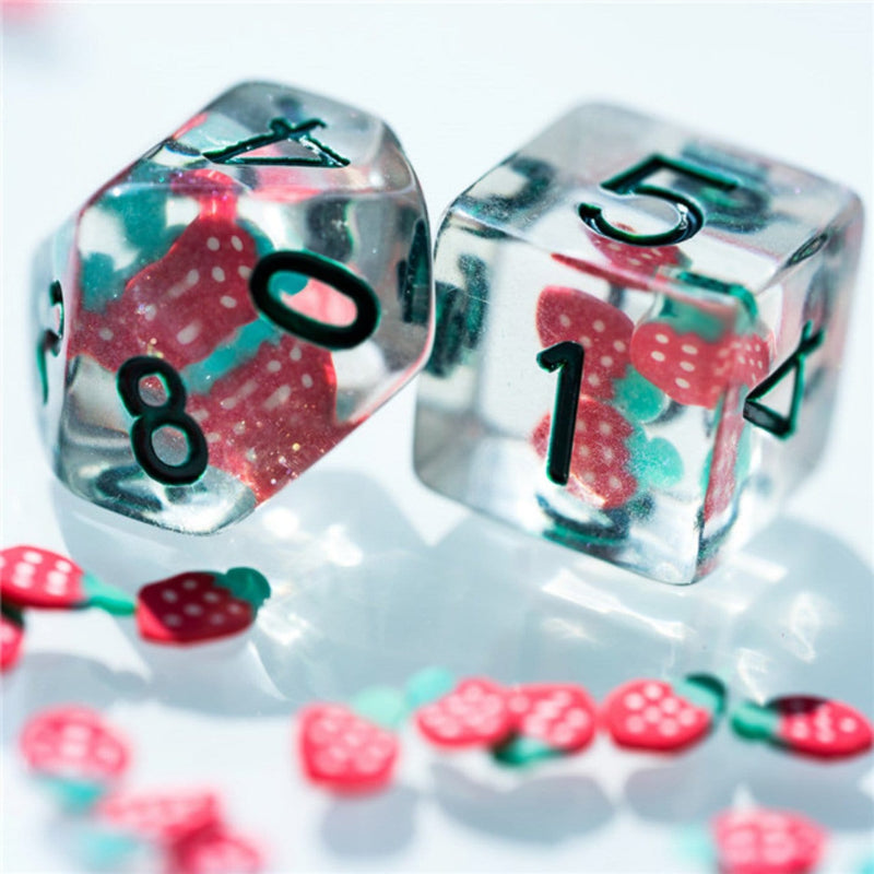 Strawberry RPG Dice Set