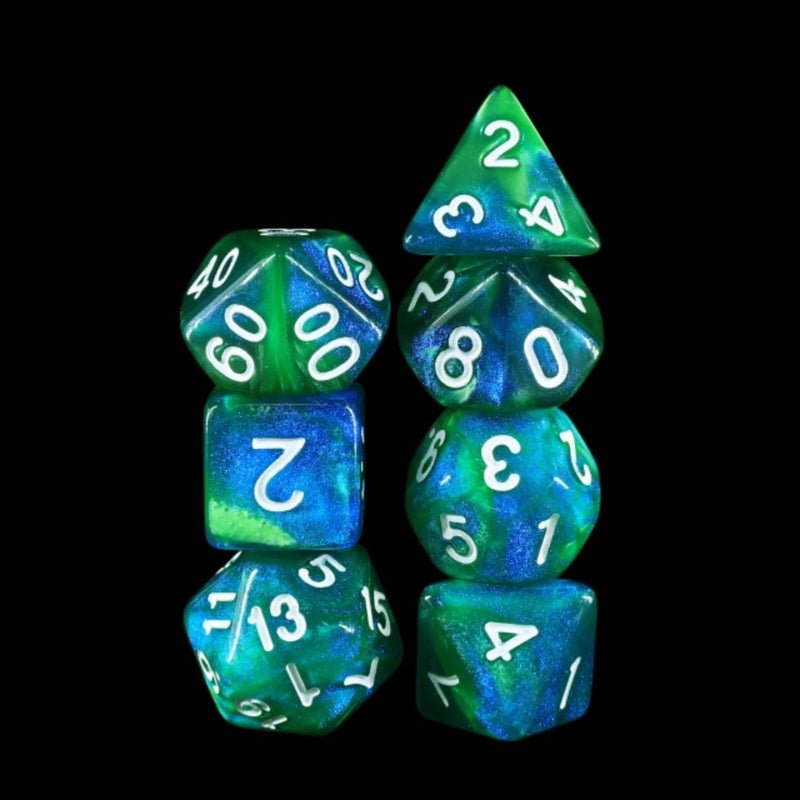 Fireflies Forest RPG Dice Set
