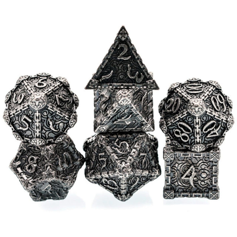 Dagger of Venom: Silver RPG Metal Barrel Dice Set