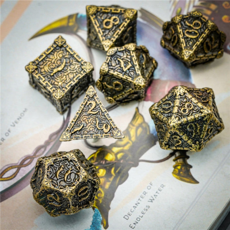 Dagger of Venom: Bronze RPG Metal Barrel Dice Set