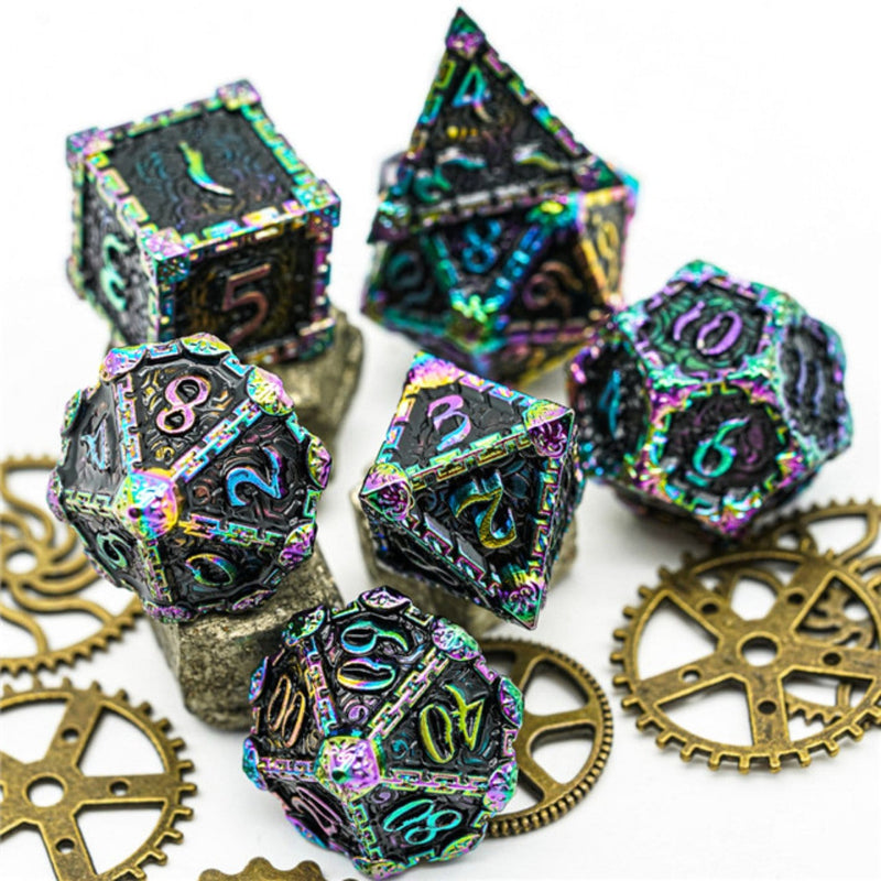 Dagger of Venom: Black Rainbow RPG Metal Dice Set