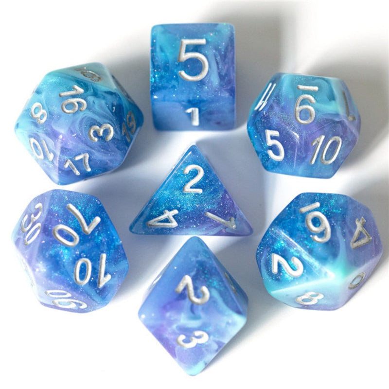 Cerulean Night RPG Dice Set