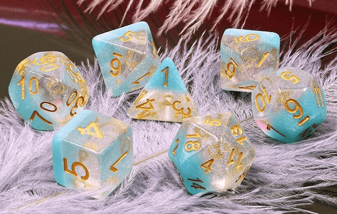 Snowflake RPG Dice Set