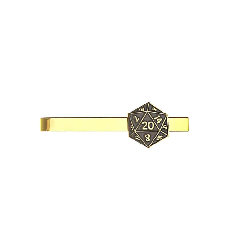 Metal Tie Clip: D20 (Assorted Colors)