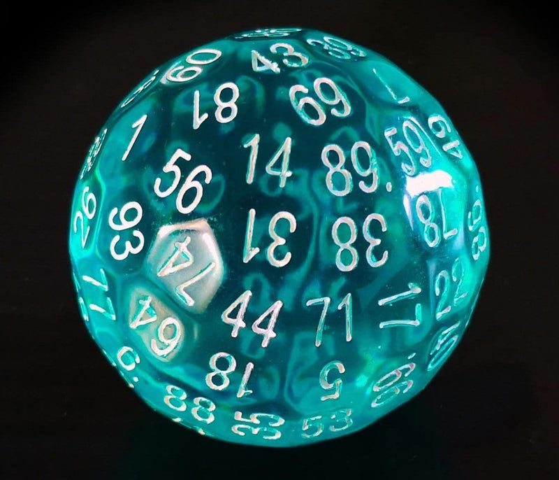 100 Sided Die - Translucent Teal D100