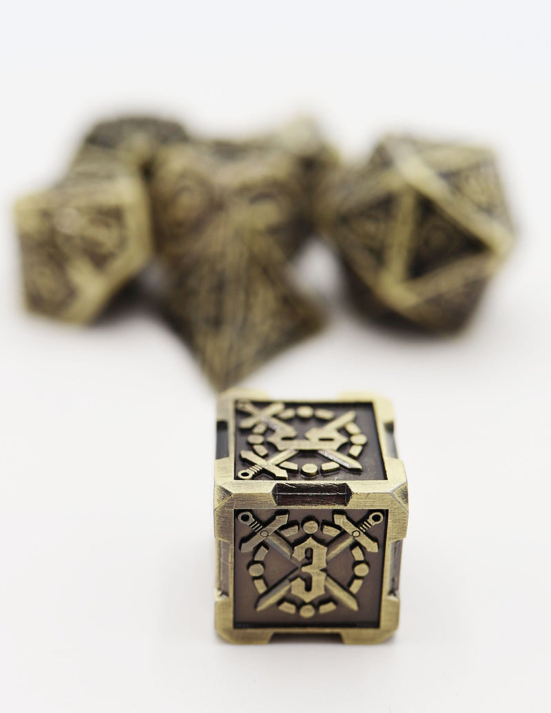 Timeworn Sword RPG Metal Dice Set