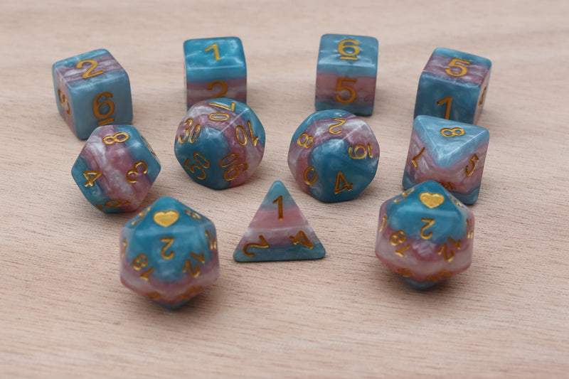 Trans Heartbeat Dice Set