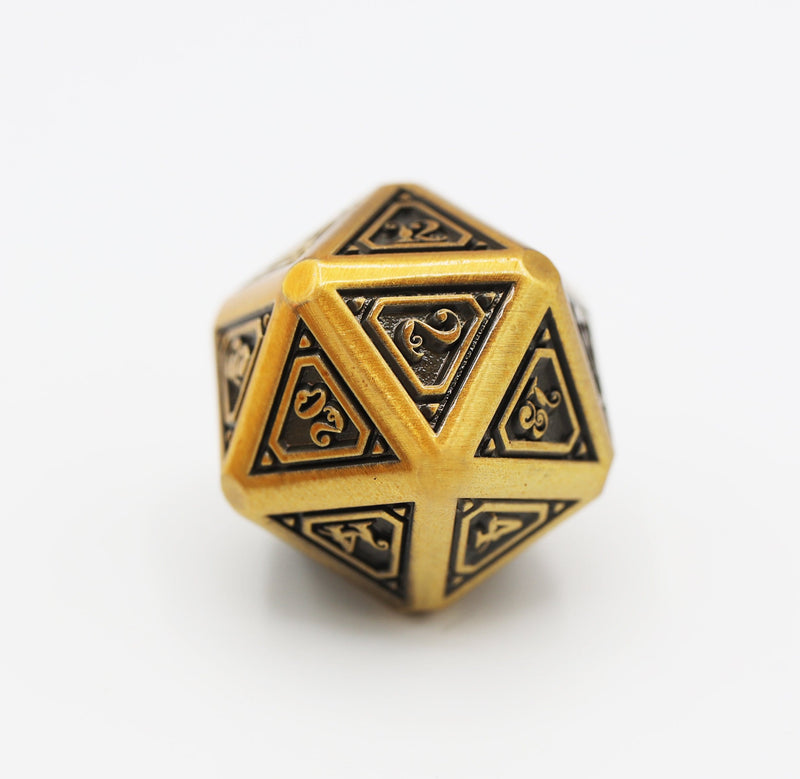 Alchemist Metals RPG Dice Set: Gold