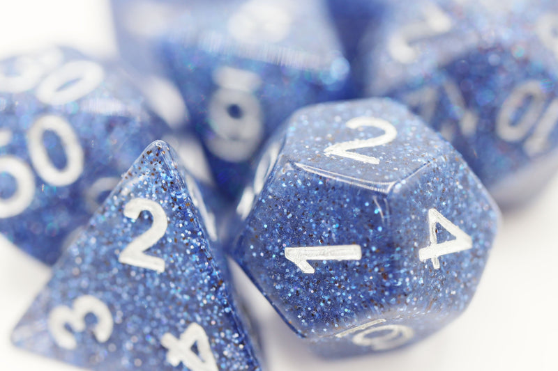 Blue Disco Ball RPG Dice Set