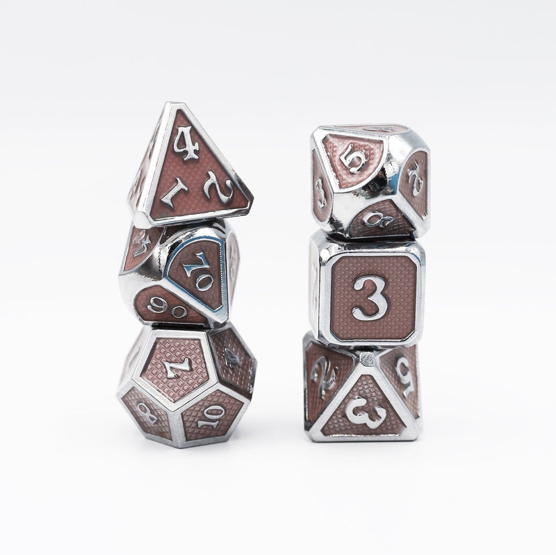 Champagne Mesh RPG Dice Set