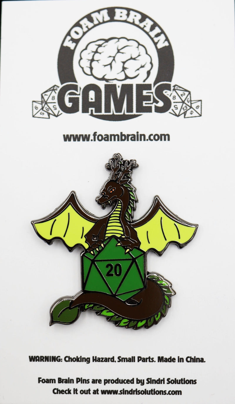 Dice Dragons Pin: Earth