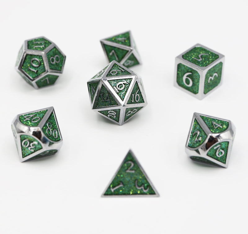 Silver with Emerald Glitter RPG Set