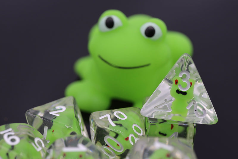 Frog RPG Dice Set
