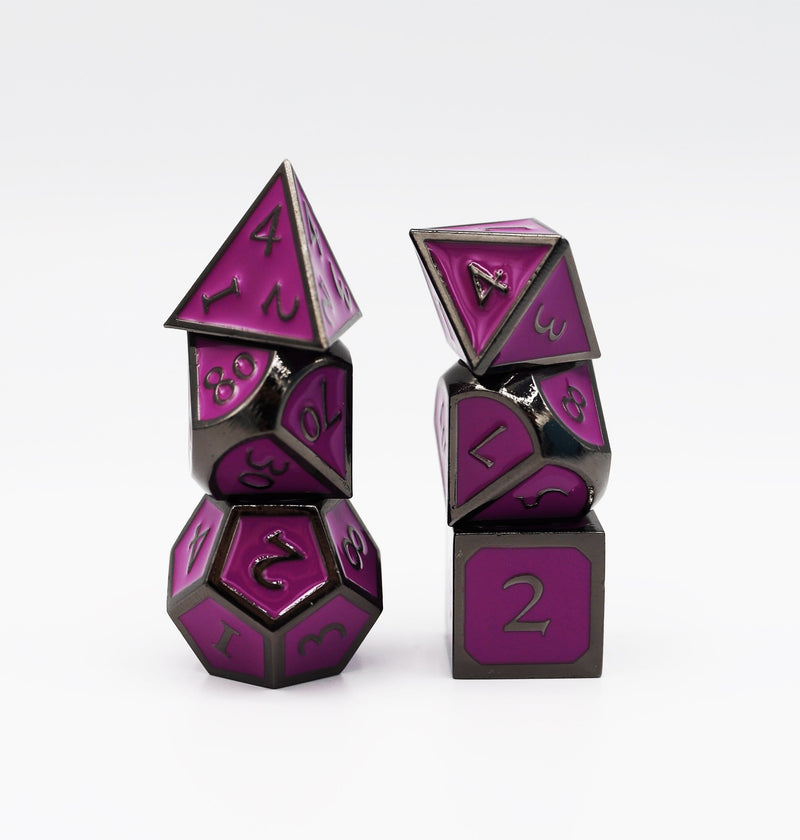 Midnight Metal Embossed with Purple RPG Set