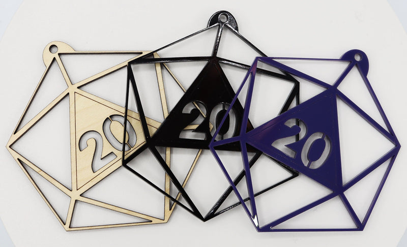 Holiday Ornament - D20 (Various Colors)