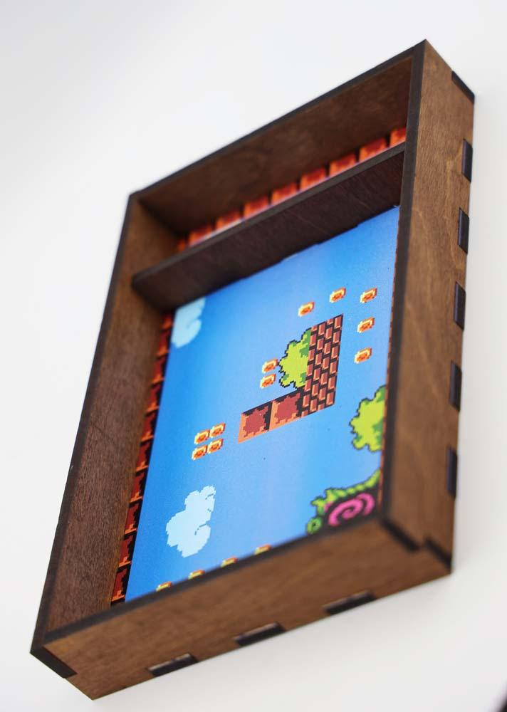 Chromatic Dice Tray - 8-Bit Platformer