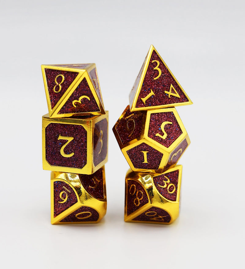 Gold Embossed Purple Glitter RPG Set