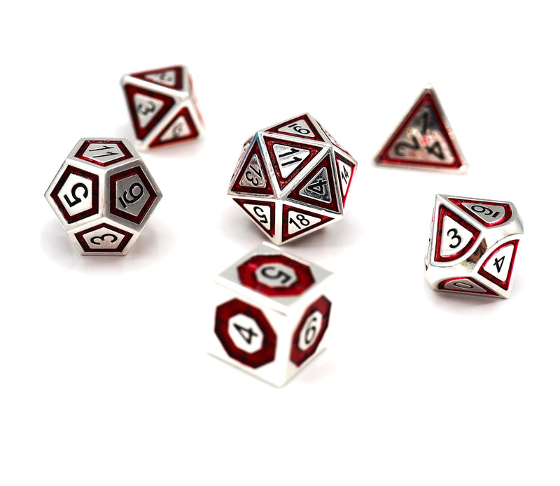 Silver and Crimson Compass RPG Set
