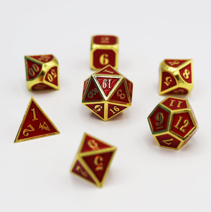 Gold Embossed Ruby RPG Set